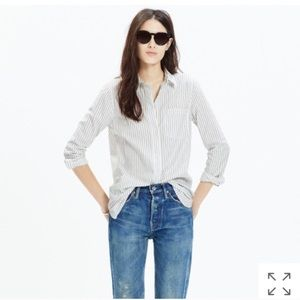 [Madewell] ex-boyfriend shirt in Napa stripe M